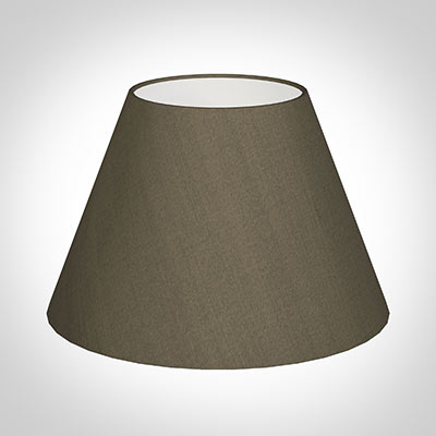 40cm Empire Shade in Bronze Brown Silk