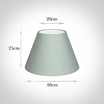 40cm Empire Shade in French Grey Silk