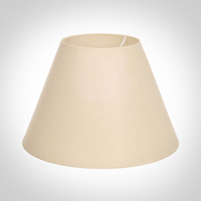 45cm Empire Shade in Parchment with Cream Trim