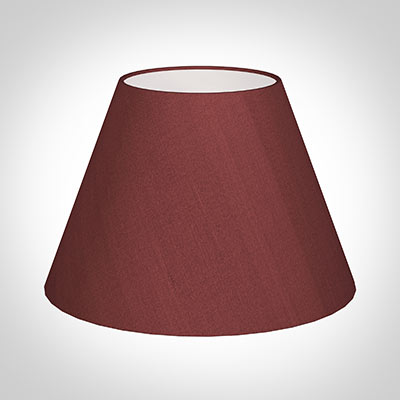 45cm Empire Shade in Antique Red Silk