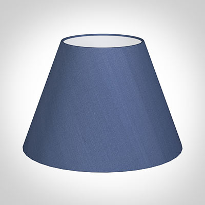 45cm Pendant Empire Shade in Slate Blue Silk