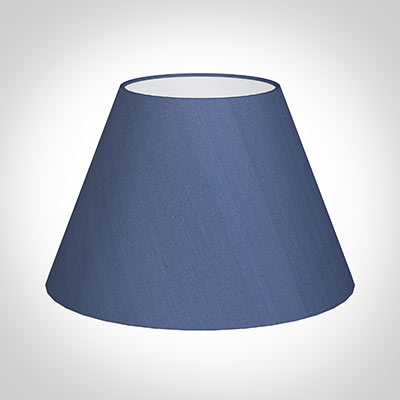 50cm Empire Shade in Slate Blue Silk