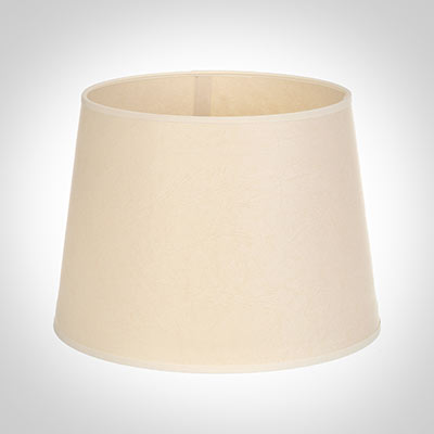 20cm Medium French Drum Shade in Parchment withCream Trim