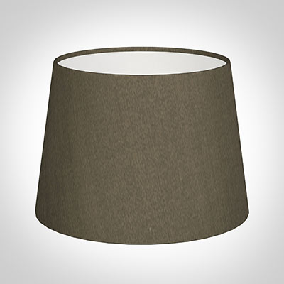 20cm Medium French Drum Shade in Bronze Brown Silk