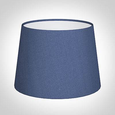 20cm Medium French Drum Shade in Slate Blue Silk