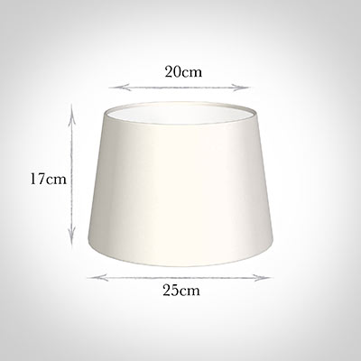 25cm Medium French Drum Shade in Cream Killowen Linen