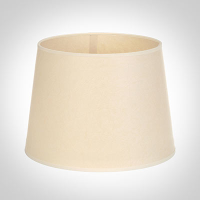 25cm Medium French Drum Shade in Parchment withCream Trim