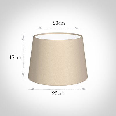 25cm Pendant Medium French Drum Shade in RoyalOyster Silk
