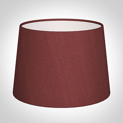 30cm Medium French Drum Shade in Antique Red Silk
