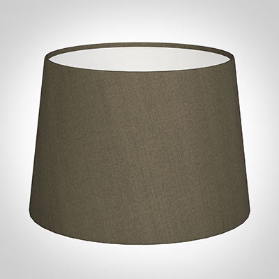 30cm Medium French Drum Shade in Bronze Brown Silk
