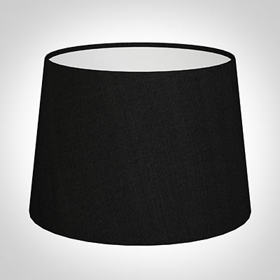 30cm Medium French Drum Shade in Black Silk