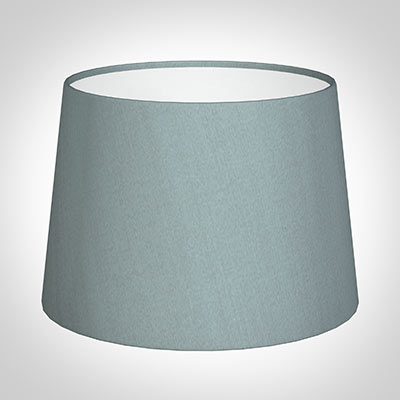 30cm Medium French Drum Shade in Rococo Blue Silk