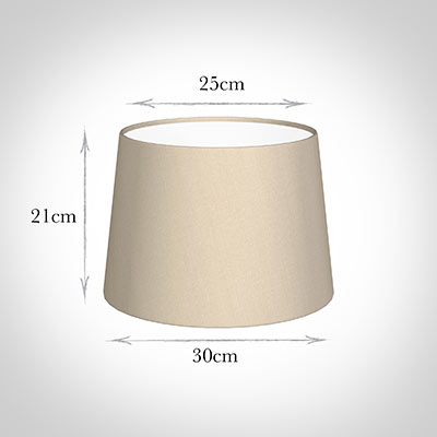 30cm Pendant Medium French Drum Shade in Royal Oyster Silk