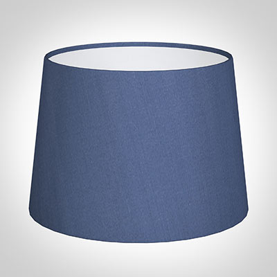 30cm Medium French Drum Shade in Slate Blue Silk