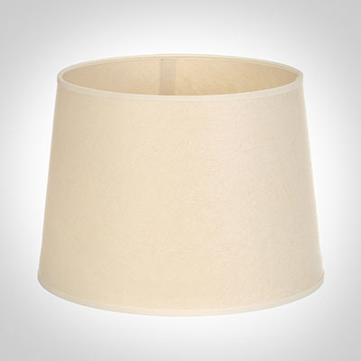 40cm Medium French Drum Shade in Parchment withCream Trim