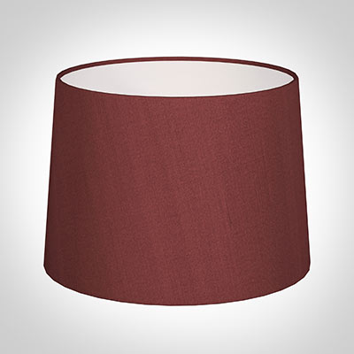 40cm Medium French Drum Shade in Antique Red Silk