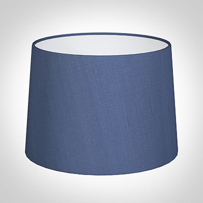 40cm Medium French Drum Shade in Slate Blue Silk