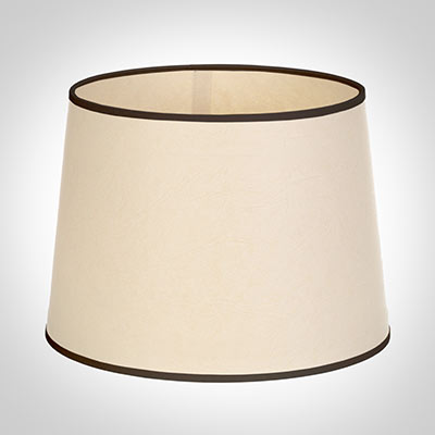 50cm Medium French Drum Shade in Parchment withBlack Trim