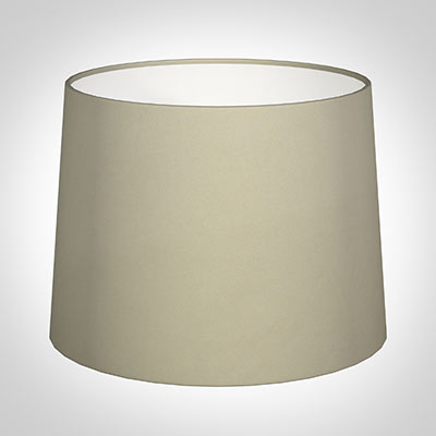 50cm Medium French Drum Shade in Pale Smoke Satin