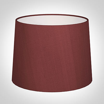 50cm Medium French Drum Shade in Antique Red Silk