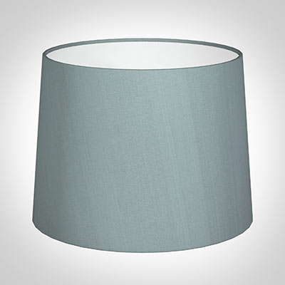 50cm Medium French Drum Shade in Rococo Blue Silk