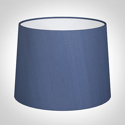 50cm Medium French Drum Shade in Slate Blue Silk