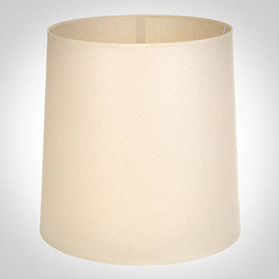 40cm Narrow French Drum Shade in Parchment withCream Trim