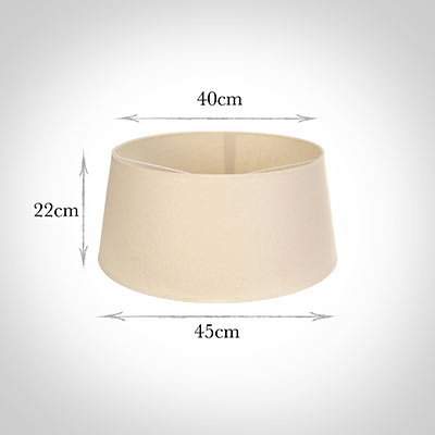 45cm Wide French Drum Shade in Parchment withCream Trim