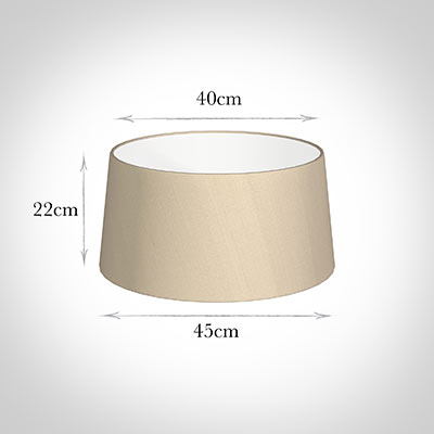 45cm Wide French Drum Shade in Royal Oyster Silk