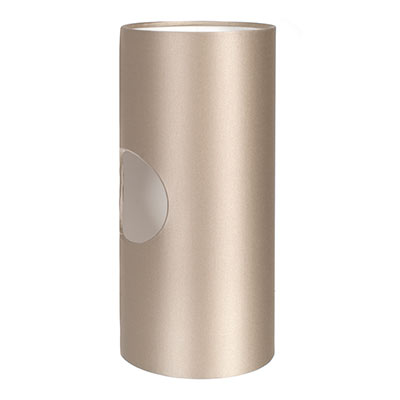 13cm Lamarsh Cylinder Shade, Pale Smoke Satin