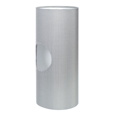 13cm Lamarsh Cylinder Shade,French Grey Silk