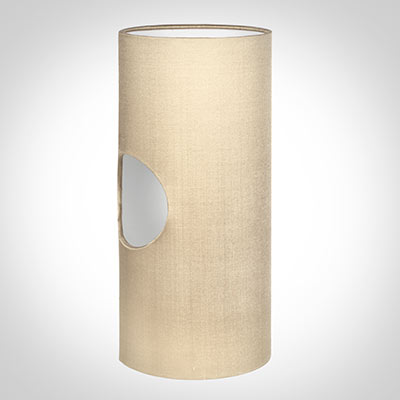 13cm Lamarsh Cylinder Shade in Royal Oyster Silk