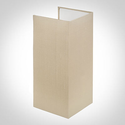 13cm Rectangular Lamarsh Shade, Royal Oyster Silk