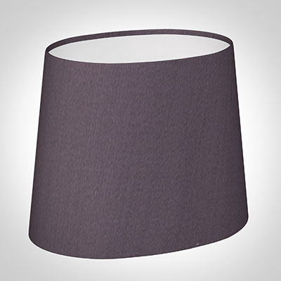 20cm Sloped Oval Shade in Heather Silk (withShade Ring)