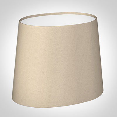 20cm Sloped Oval Shade in Royal Oyster Silk (with Shade Ring)