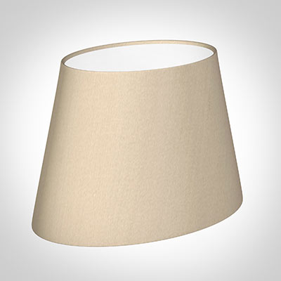 25cm Sloped Oval Shade in Royal Oyster Silk (withShade Ring)