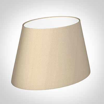 30cm Sloped Oval Shade in Royal Oyster Silk (withShade Ring)