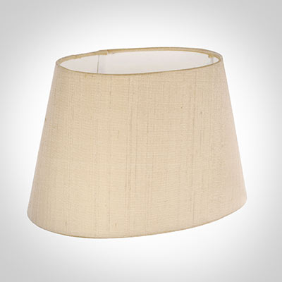 40cm Sloped Oval Shade in Buttermilk Silk