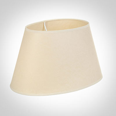 45cm Sloped Oval Shade in Parchment with CreamTrim