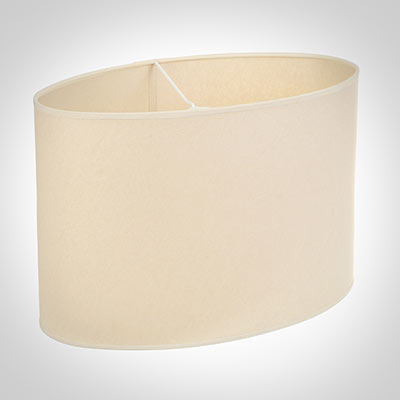 40cm Straight Oval Shade in Parchment with CreamTrim