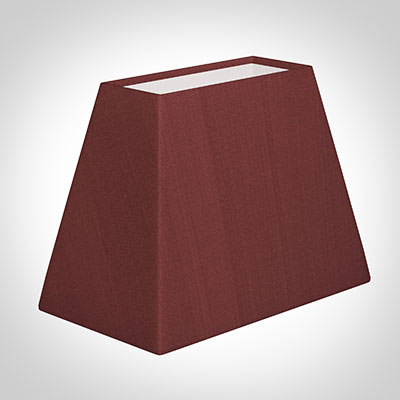 36cm Sloped Rectangular Shade in Antique Red Silk