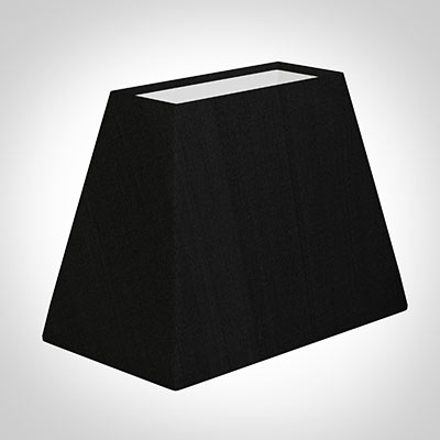 36cm Sloped Rectangular Shade in Black Silk