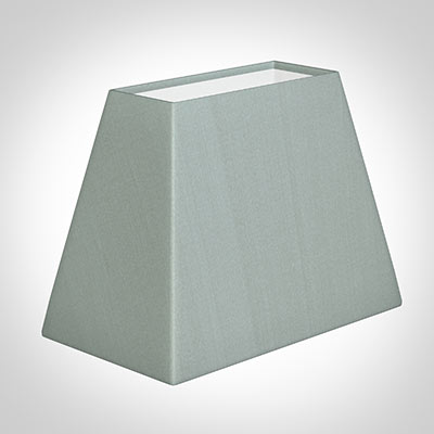 36cm Sloped Rectangular Shade in French Grey Silk