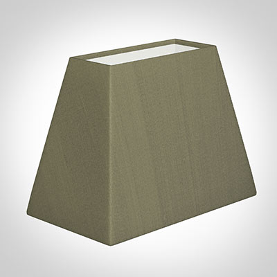 36cm Sloped Rectangular Shade in Watered Green Silk