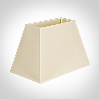 46cm Sloped Rectangular Shade in Parchment withCream Trim