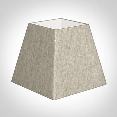 25cm Sloped Square Shade In Natural Isabelle Linen