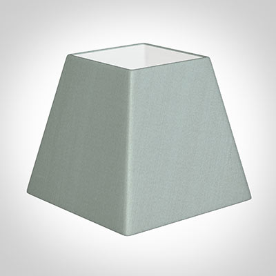 25cm Sloped Square Shade in French Grey Silk