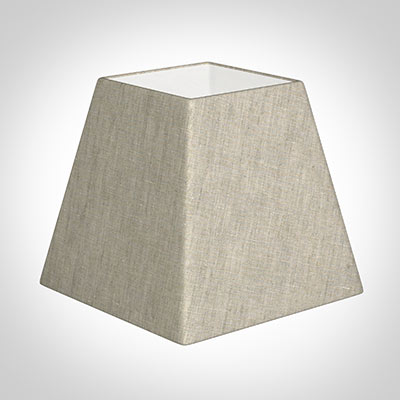 30cm Sloped Square Shade in Natural Isabelle Linen