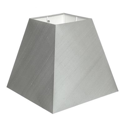 Square lamp shades sloped square shades lampshades 30cm sloped square shade in french grey silk mozeypictures Gallery