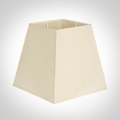 40cm Sloped Square Shade in Parchment with CreamTrim